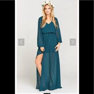 Show Me Your Mumu Jocelyn Jade Chiffon Maxi Dress